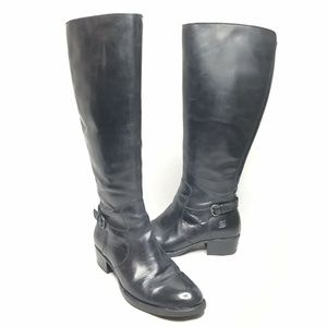 Born Helen Black Riding Boots Leather Wide Calf